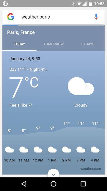 ui googles weather card