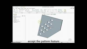 Pattern Using Direction In Ptc Creo 2 0