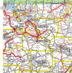 Arkansas Highway Road Map