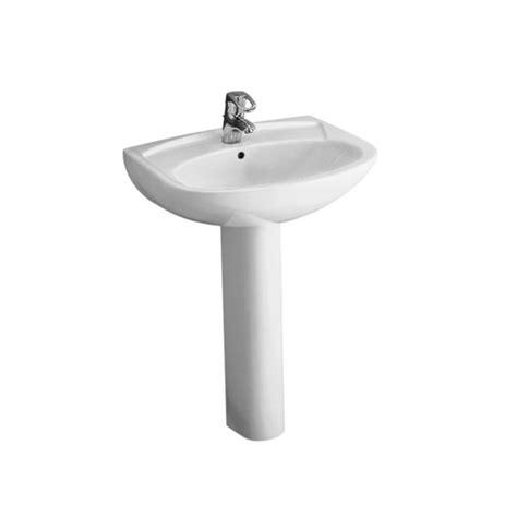 lavabo sur colonne 55cm volta pour salle de bains a fixer avec trop plein trou perc 233