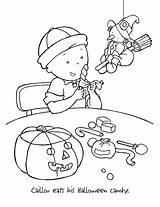 Caillou Coloring Pages Halloween Printable Printables Print Christmas Holidays Wuppsy Cartoon Shrek Find Adult Bestcoloringpagesforkids sketch template