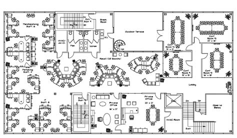 open concept office floor plans  space planning plan