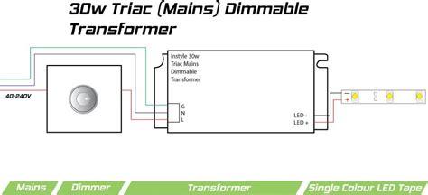 30 watt dimmable led transformer triac phase dimming