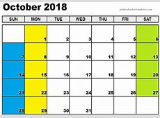October 2018 Calendar Images Malaysia Free Download Pictures