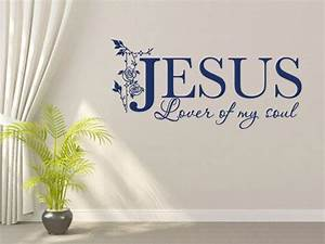 christian wall decal jesus lover of my soul code 122 With christian wall sayings vinyl lettering