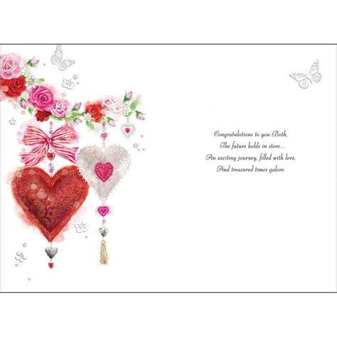 hearts butterflies   engagement card karenza paperie