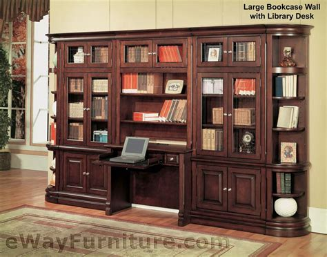 Parker House Sterling Large Bookcase Wall With Library Desk
