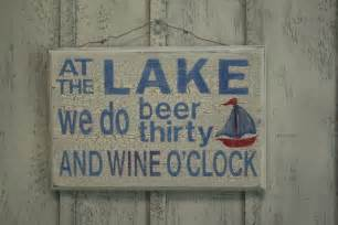 Funny Lake Signs
