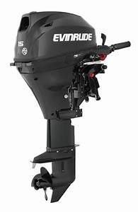 Evinrude Motor E15rg4  15 Hp  15 Shaft  Tiller Steering