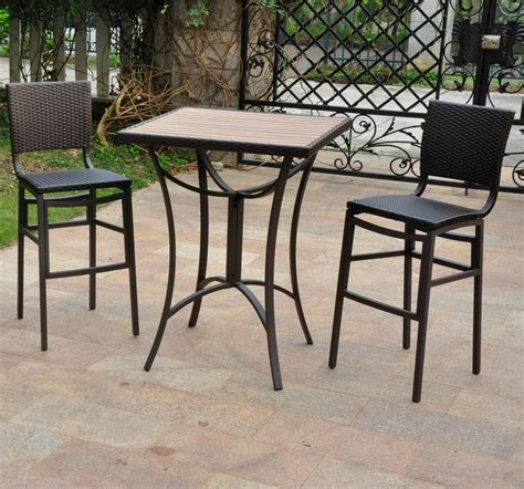 tall patio table set nice tall patio table stonewick high table and chair set