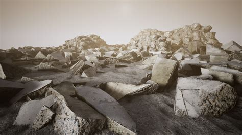 Concrete Rubble by MauriccioTorres in Props UE4 Marketplace