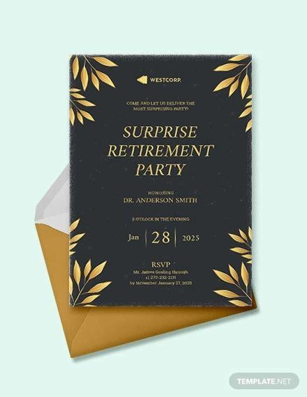 retirement party invitation templates psd ai eps
