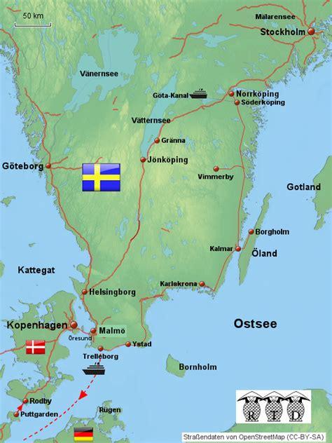 stepmap suedschweden mit stockholm landkarte fuer europa