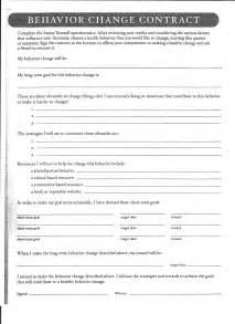 Health Behavior Change Contract