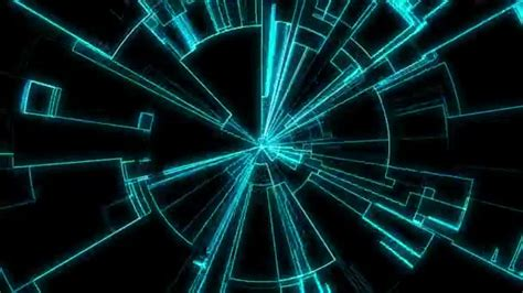 Tron inspired concentric lines — Stock Video ...