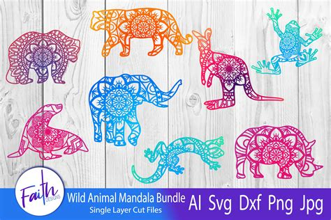They come in many different designs, click here to see our range of mandala svgs. Wild Animal Mandala Bundle SVG (730759) | Cut Files ...