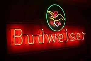 Vintage Budweiser King of Beers Mirror Beer Sign Anheuser
