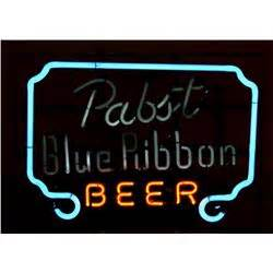 Pabst Blue Ribbon Neon Lighted Sign