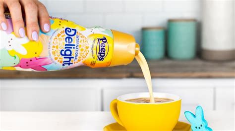 They also make pumpkin spice creamer, hershey, almond joy and reese's creamer, irish crème creamer. Marshmallow Treat Coffee Creamers : Peeps Coffee Creamer