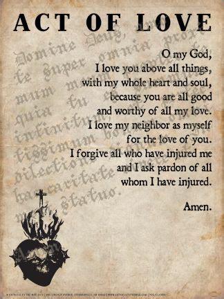 Love Catholic Prayer Act
