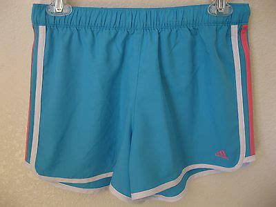 adidas girls shorts xl running light blue athletic gym beach idol