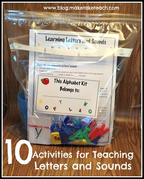 teaching letter sounds to preschoolers 10 activities for teaching and practicing letters and 155