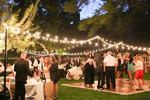 outdoor wedding reception in washington dc