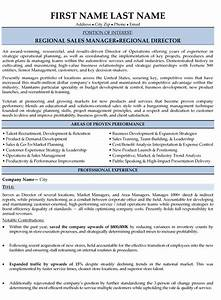 top sales resume templates samples With regional sales manager resume template