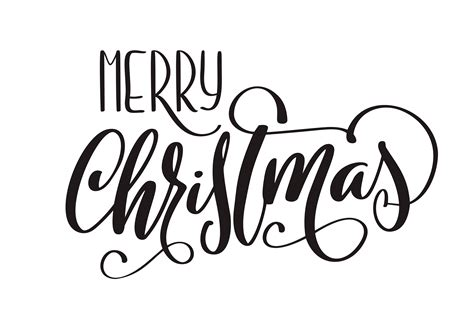 merry christmas vector calligraphic lettering text for design greeting cards holiday greeting