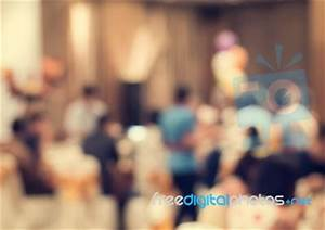 Blurred People In The Banquet Room Stock Photo - Royalty ...