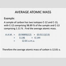 Ppt  Isotopes & Average Atomic Mass Powerpoint Presentation Id1902188