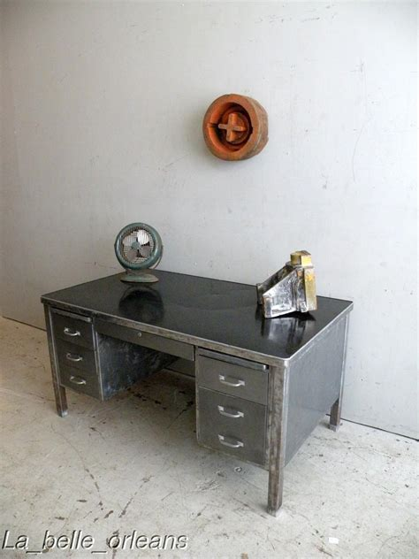 industrial desk for sale vintage industrial large steel desk 1940s must see for