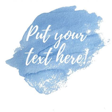 background for text blue watercolor background with text template vector