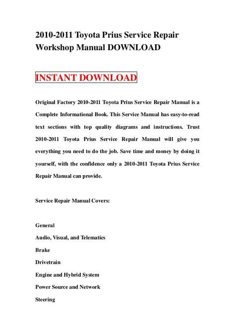 car repair manuals online pdf 2012 toyota prius c parking system 2010 2011 toyota prius service repair manual download