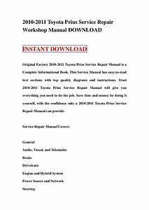 2010 2011 Toyota Prius Service Repair Manual Download