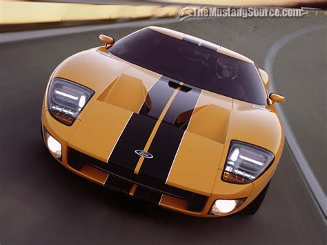 desktop wallpaper speed yellow  ford gt  mustang