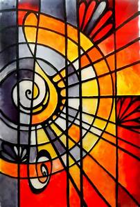 stained, glass, painting, , musical, 2, , , u2013, creative, art