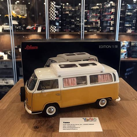 schuco  volkswagen ta camping bus white orange