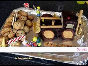 Gateau Anniversaire Garcon : anniversaire gar on gateau tractopelle youtube ~ Melissatoandfro.com Idées de Décoration