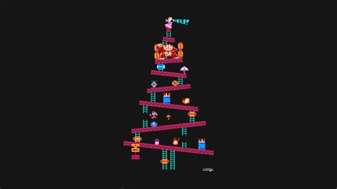 don t have a christmas tree hang this donkey kong one up