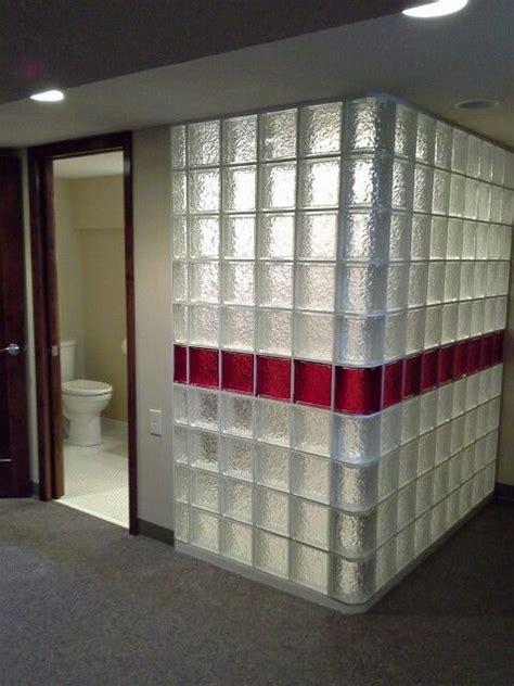 glass block shower walls glass brick glass block shower