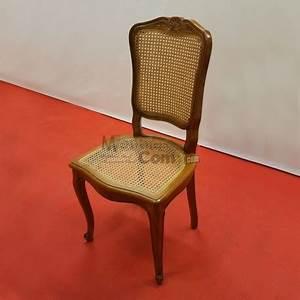 lot de 4 chaises cannees louis xv de salle a manger merisier With meuble salle À manger avec lot de chaises
