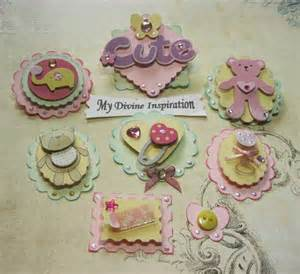 as a button baby shower decorations baby girl paper embellishments scrapbook embellishments