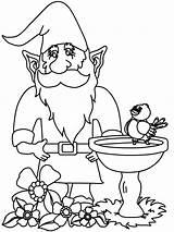 Gnome Coloring Gnomes Coloriage Mushroom Ausdrucken Malvorlagen Savannah Attic Colouring Zwerge Jardin Dans Son Gnome3 Fantasy Gardening Gnomo Template Dibujos sketch template