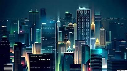 Minimalist Cityscape Modern 4k Skyline Wallpapers Minimalism