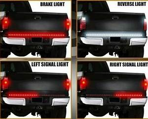 New Waterproof 60 U0026quot  Led Tailgate Strip Light Bar For Dodge