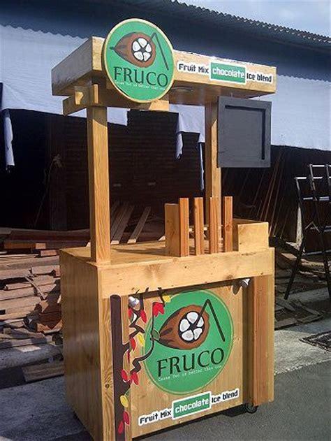 jual booth gerobak kayu jualan makanan minuman stan bazar