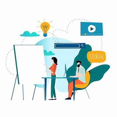 Training Vector Education Professional Business Illustration Tutorial