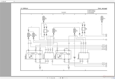 toyota corolla 2014 2019 electrical wiring diagram auto