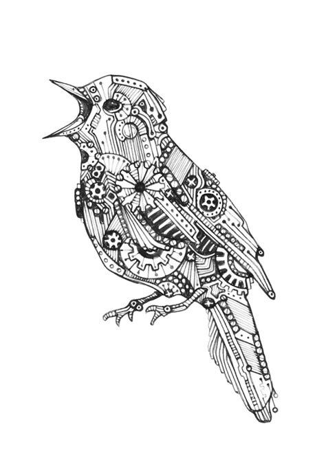 Mechanical bird 3 www.kimberlouise.deviantart.com (With